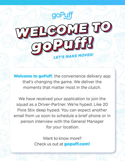 Want to Deliver for goPuff? Here are the Driver Requirements and a Job Overview - Ridesharing Driver