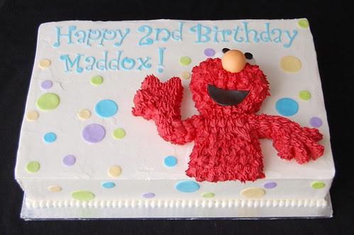 Maddox's Elmo Birthday cake