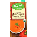Pacific Foods: Organic Roasted Red Pepper And Tomato Soup, 32 Oz