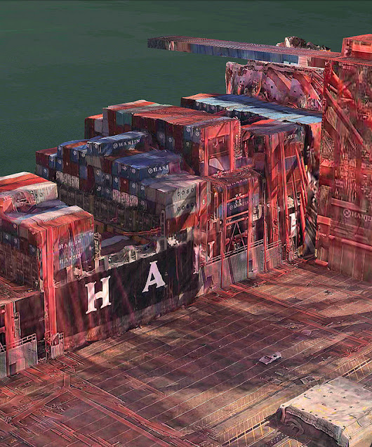 Artistic Images Hidden in the Glitches of Apple Maps