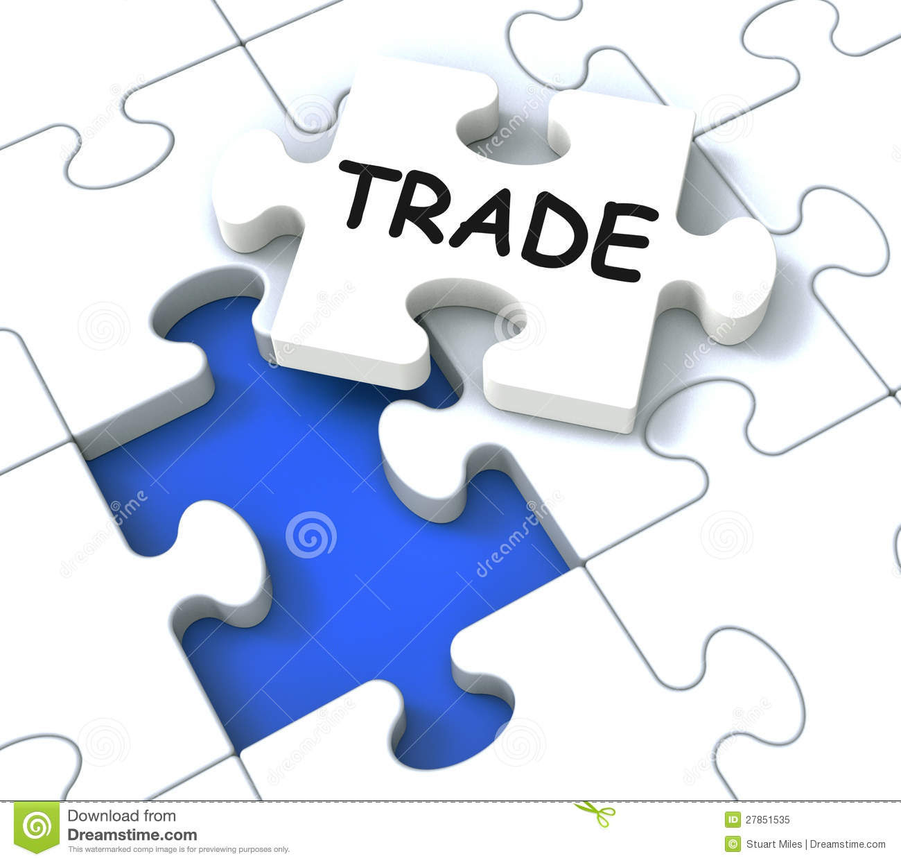 trade puzzle shows market commerce 27851535