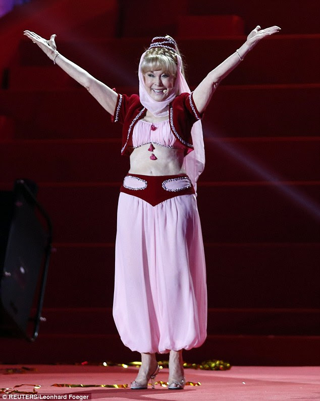 Magically evergreen! Barbara Eden, 78, bravely donned her I Dream of Jeannie crop-top and harem pantaloons for the opening ceremony of the 21st Life Ball in Vienna Saturday