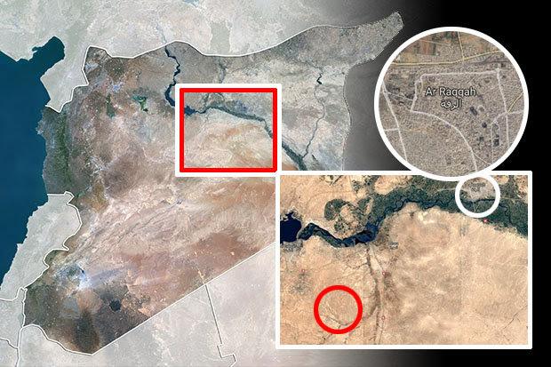 Ja'Din on map of Syria