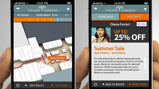Abuzz's technology will direct you to the store you want and pop up deals along the way.