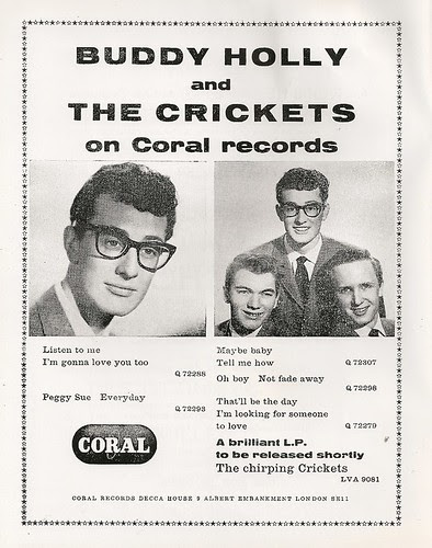 06 - Advert - Buddy Holly & The Crickets on Coral Records by Bradford Timeline