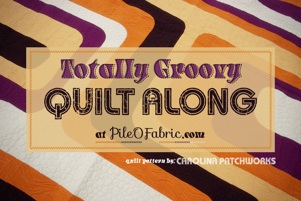 Totally Groovy Quilt Along at Pile O' Fabric