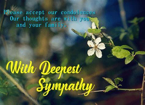 Accept Our Condolences. Free Sympathy & Condolences eCards