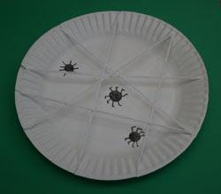 Papīra Šķīvis zirnekļa tīmekļa kuģis
