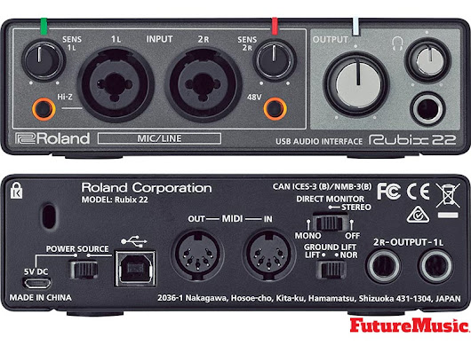 Roland Premiers Rubix22, Rubix24 & Rubix44 Audio Interfaces | FutureMusic the latest news on future music technology DJ gear producing dance music edm and everything electronic