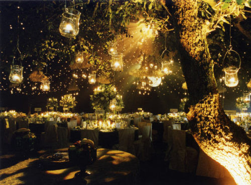 outdoor wedding reception | Tumblr