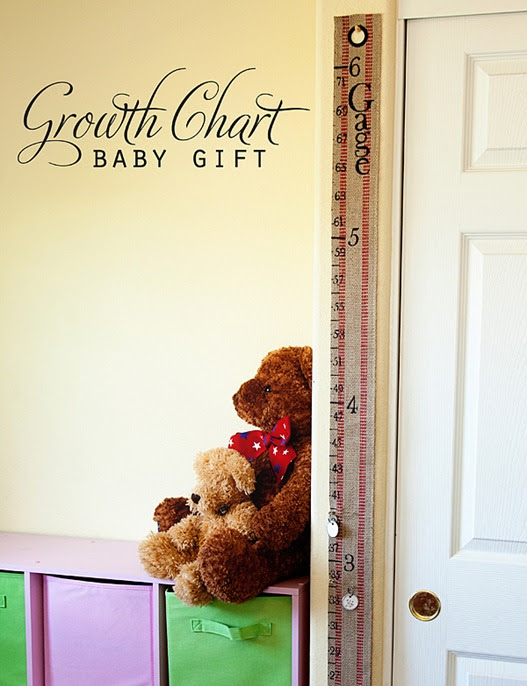 DIY Baby Gift ~ Portable Growth Chart Kit • Whipperberry