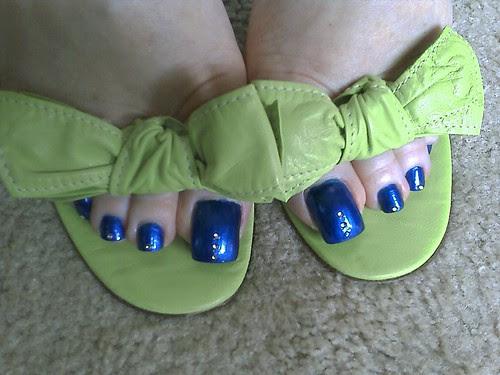 Blue toe nails design. Sexy nail art