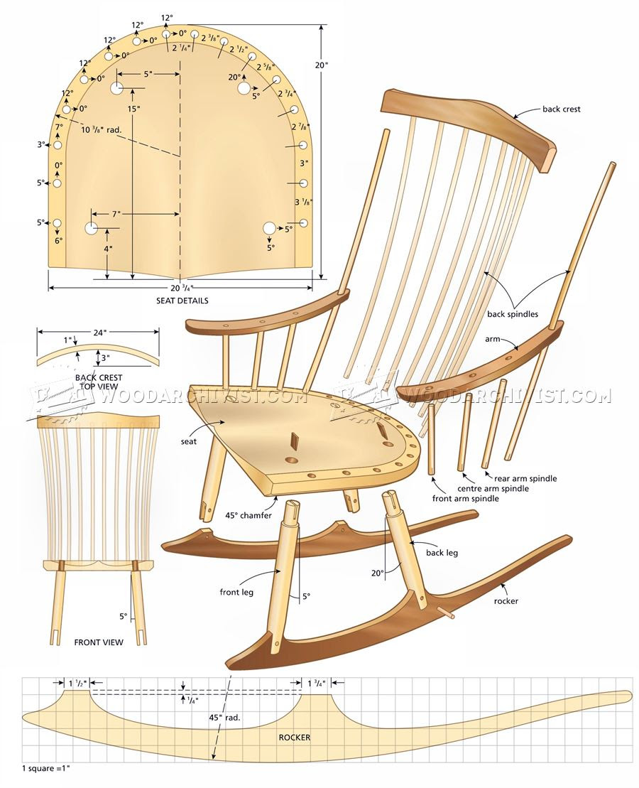 Easy Wood Projects For Gifts Woodworking Plans For Rocking Chair Free