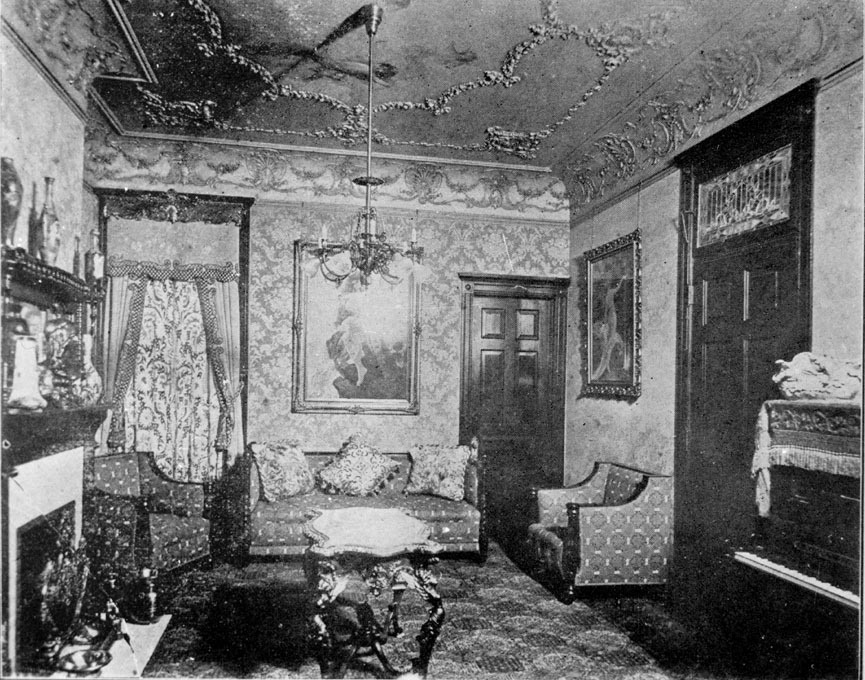 1900. The Rose Parlor room inside the Everleigh Club. A brothel at 2131–2133 South Dearborn Street.