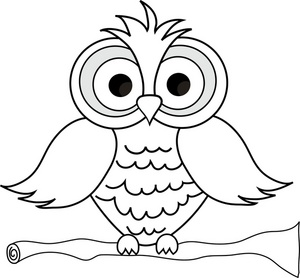 Wise Owl With Big Eyes On A Tree Limb In Black And White Smu Free
