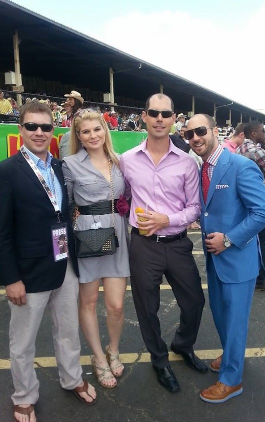 JBD Clothiers | Premium Men's Custom Clothing |   Preakness photos with clients and friends!