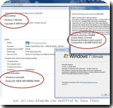 Windows 7 SP1 64 Bit Product Key