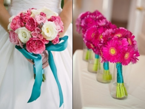 27 Vivid Turquoise And Fuchsia Wedding Ideas Happyweddcom