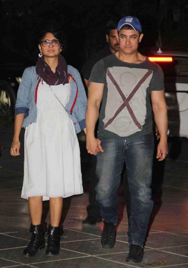 عامر خان وزوجته المخرجة كيران راو