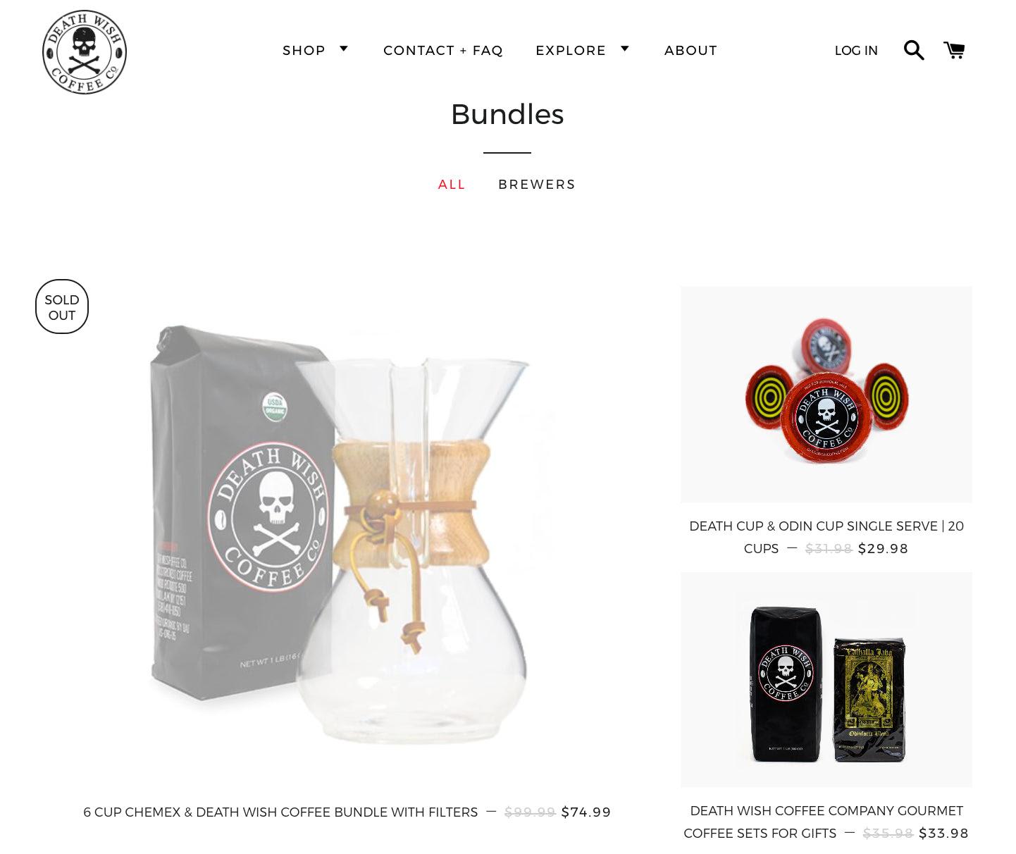 Death Wish Coffee bundle