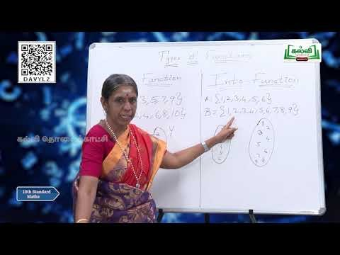 10th Maths Relation and Functions Unit 1 Kalvi TV