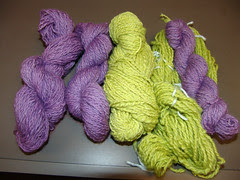 PurpleRomneyChartreuseMerino