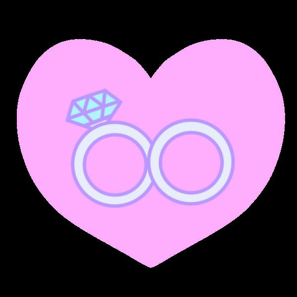 結婚指輪のイラスト かわいいフリー素材が無料のイラストレイン