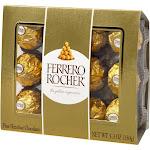 Ferrero Rocher Fine Hazelnut Chocolates - 5.3oz/12ct