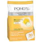 Ponds Wet Cleansing Towelettes, Morning Refresh With Citrus And Cucumber, 30 Ea