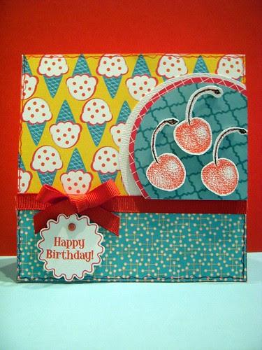 Happy Birthday Cherry Card