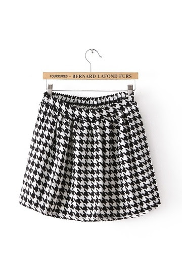 Stylish Swallow Gird Pleated Skirt
