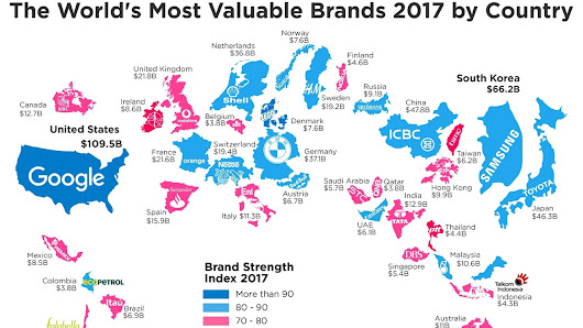 The most valuable brands in the world, in one chart - MarketWatch