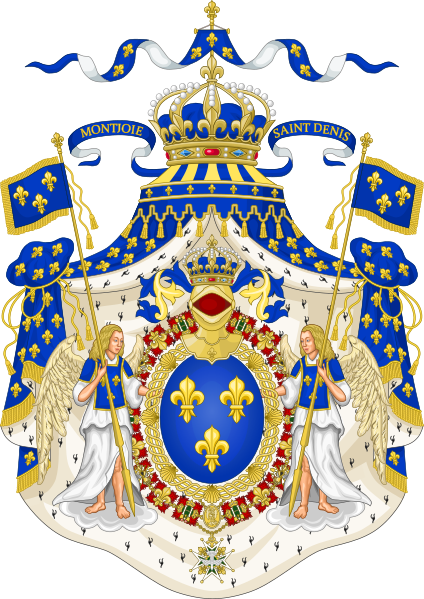 Archivo:Grand Royal Coat of Arms of France.svg
