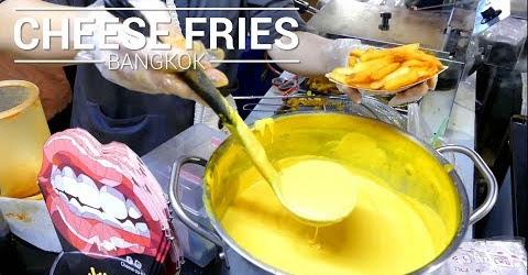 Phô mai nóng chảy trên khoai tây lắc phô mai béo giòn khó cưỡng Ẩm thực đường phố Thái Lan