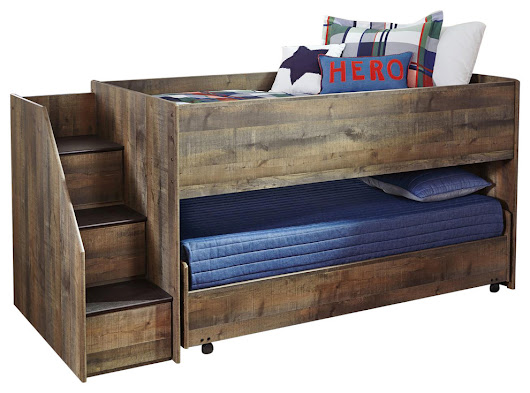 Trinell Twin Loft Caster Bed, Brown B446-68B