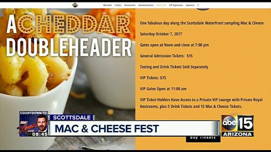 Mac & Cheese Fest coming to Scottsdale Waterfront in October