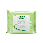 Simple Sensitive Skin Experts Cleansing Facial Wipes, Kind To Skin - 25 Ea