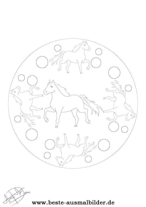 32 ausmalbilder mandala pferde  besten bilder von