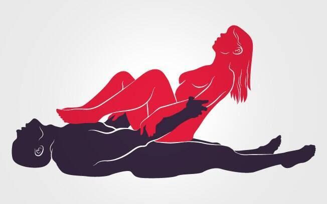 10. ENXAIXE SOBREPOSTO: É preciso ter certo preparo físico para fazer esta posição. Com ele deitado, ela senta por cima e envolve o pênis completamente . Foto: Renato Munhoz (Arte iG)