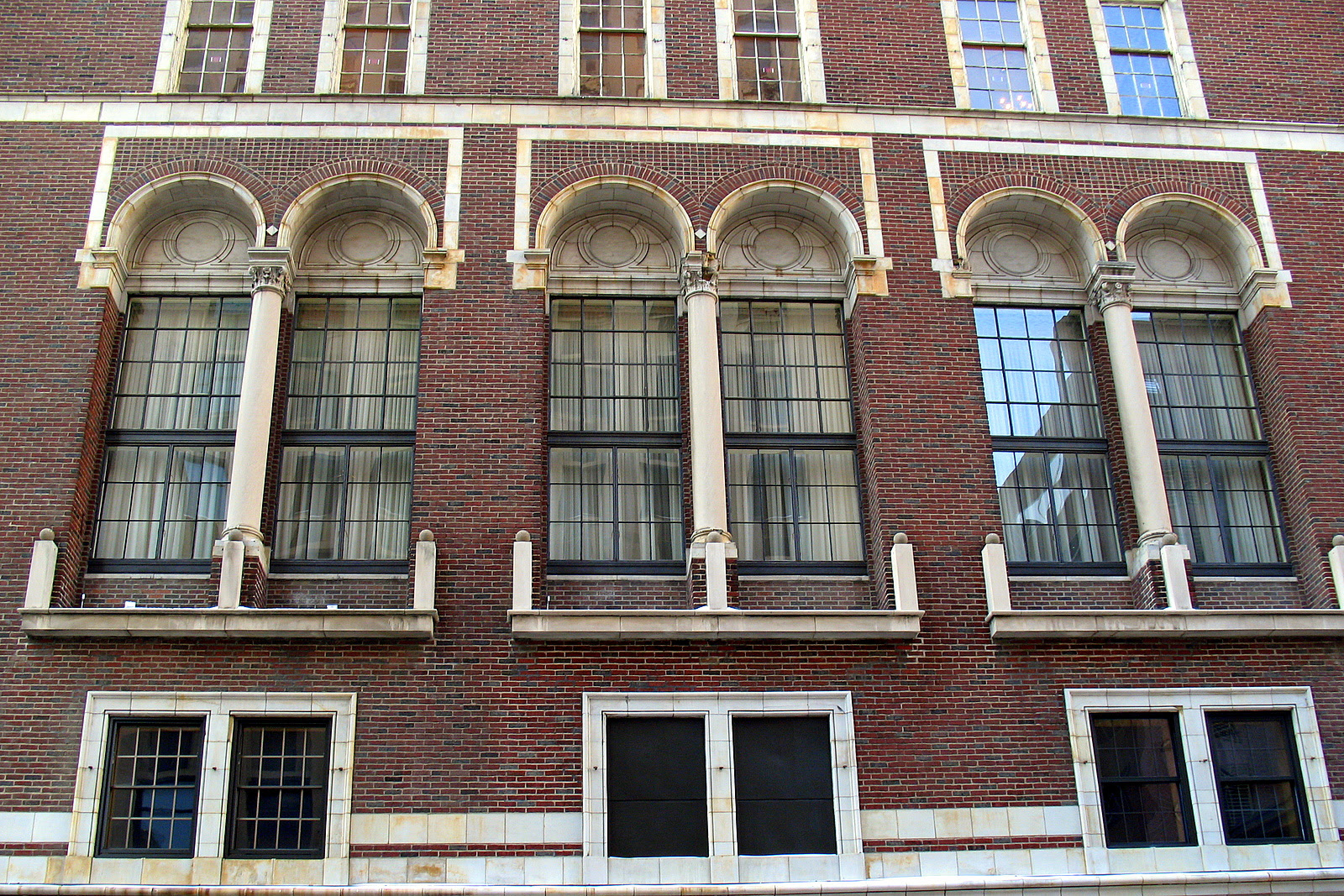 View of the windows for the Saint Paul Athletic Club building in the Twin Cities