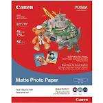 7981A004 Canon Usa Matte Photo Paper 8.5 X 11in- 50 Sheets - Matte Mp-101 Ltr_50