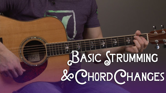 Basic Strumming & Chord Changes Guitar Lesson - Guitar Compass