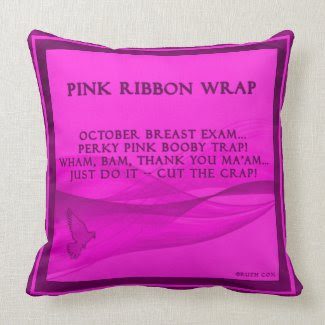Pink Ribbon Wrap Pillows