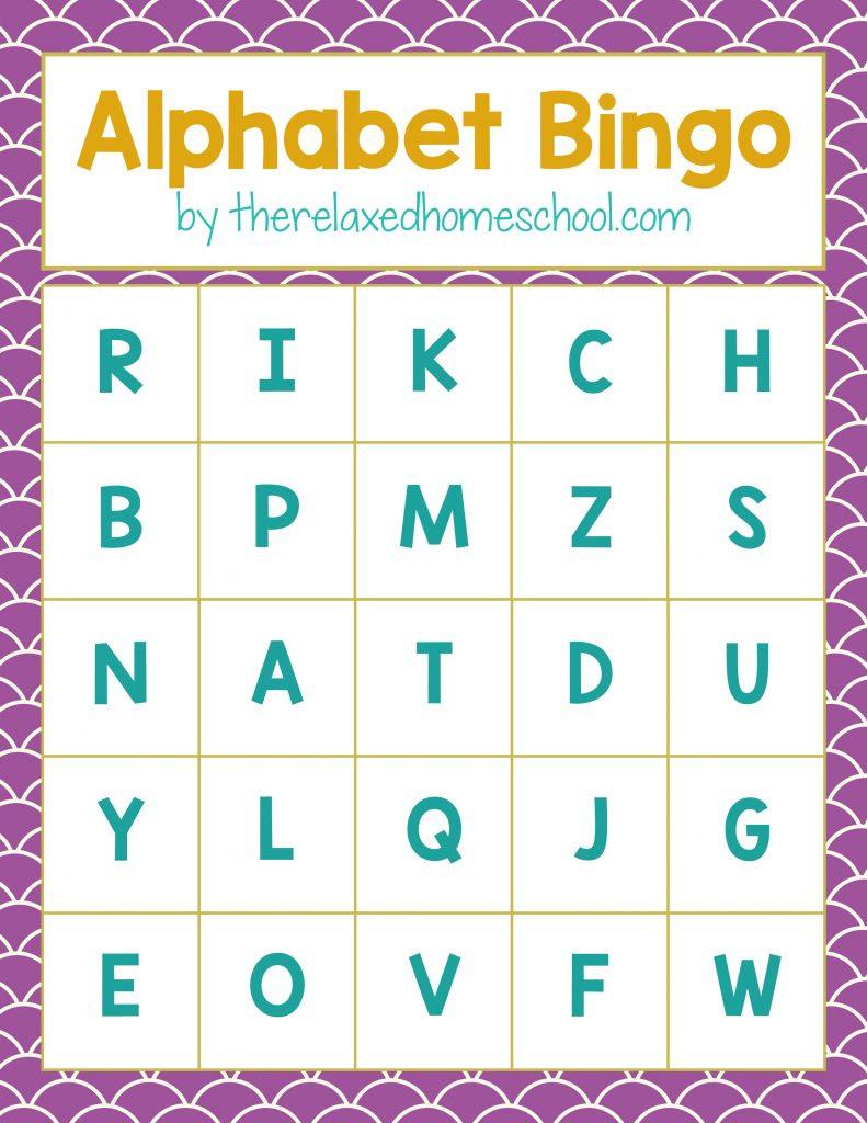 Bingo Relaxed Homeschool 791x1024