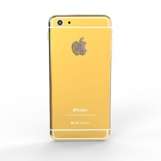 24k Gold Lux iPhone 6 with Diamond Logo