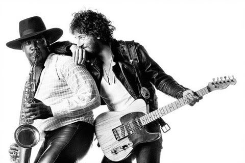 Clemons/Springsteen in the iconic Born To Run album cover image
