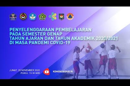 Pengumuman Penyelenggaraan Pembelajaran Semester Genap Tahun Ajaran 2020/2021 di-Masa Pandemi Covid-19