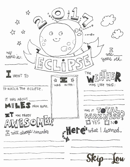 Solar Eclipse Coloring Page | Skip To My Lou