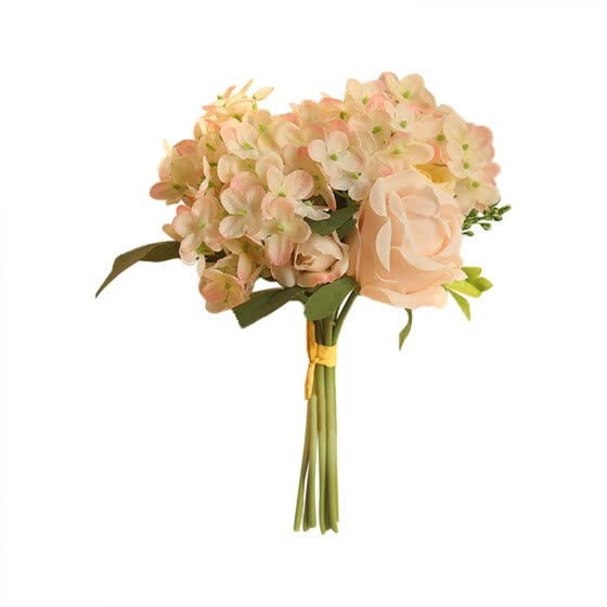 Shop Artificial Silk Fake Flowers Peony Floral Wedding Bouquet Bridal Hydrangea Online From Best Artificial Plants On Jd Com Global Site Joybuy Com