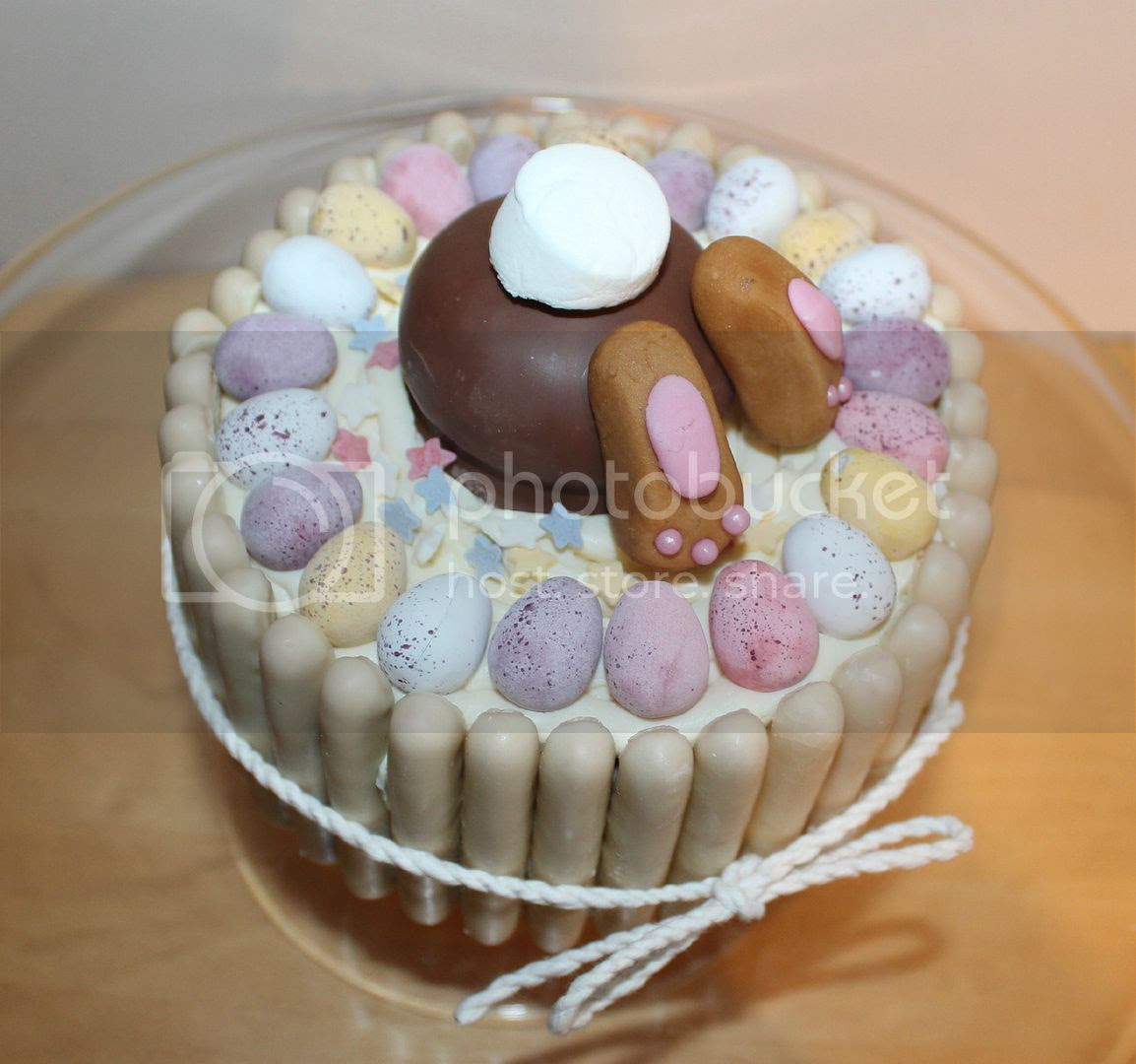 top of bunny butt cake